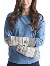 Muk Luks Ivory & Gray Snowflake Zigzag Arm Warmers