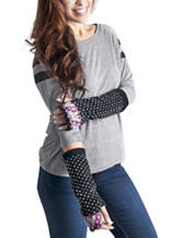 Muk Luks Black Bird's Eye Arm Warmers