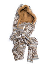 Muk Luks Safari Geometric Hooded Scarf