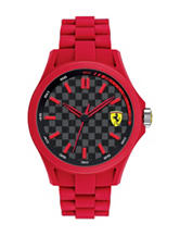 Ferrari Men's Black Dial Red Silicone Watch