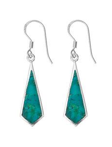 Marsala Turquoise Drops Earrings Fine Jewelry