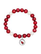 Arizona Cardinals Stainless Steel Pearl Stretch Bracelet