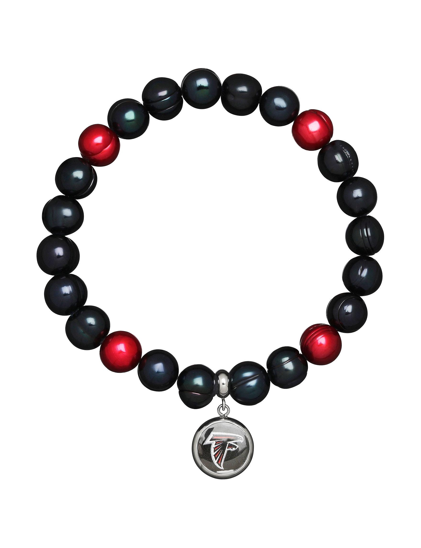 Aurafin Oro America Black / Red Bracelets Fine Jewelry
