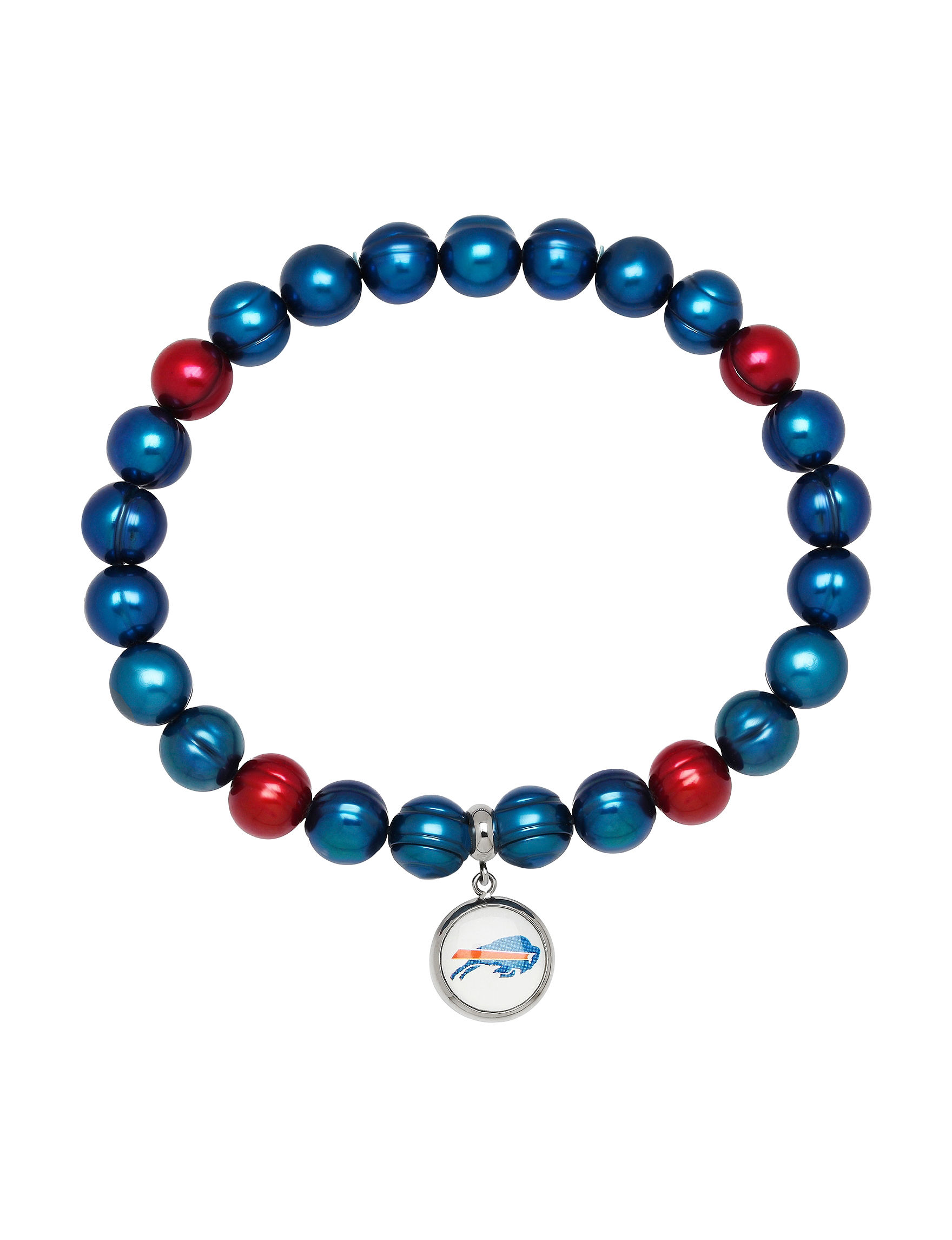 Aurafin Oro America Blue/ Red Bracelets Charms Fashion Jewelry NFL