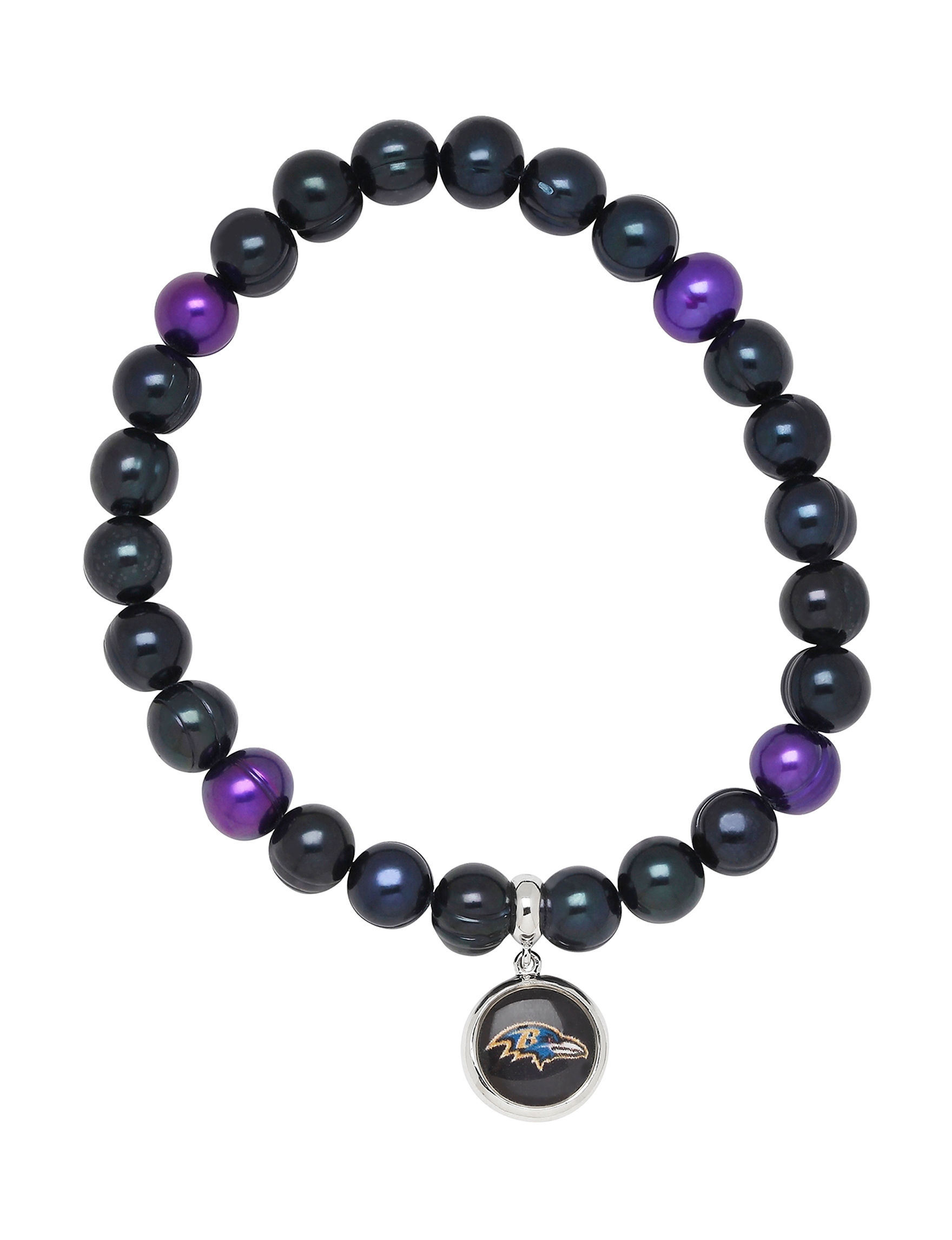 Aurafin Oro America Black/ Purple Bracelets Charms Fashion Jewelry