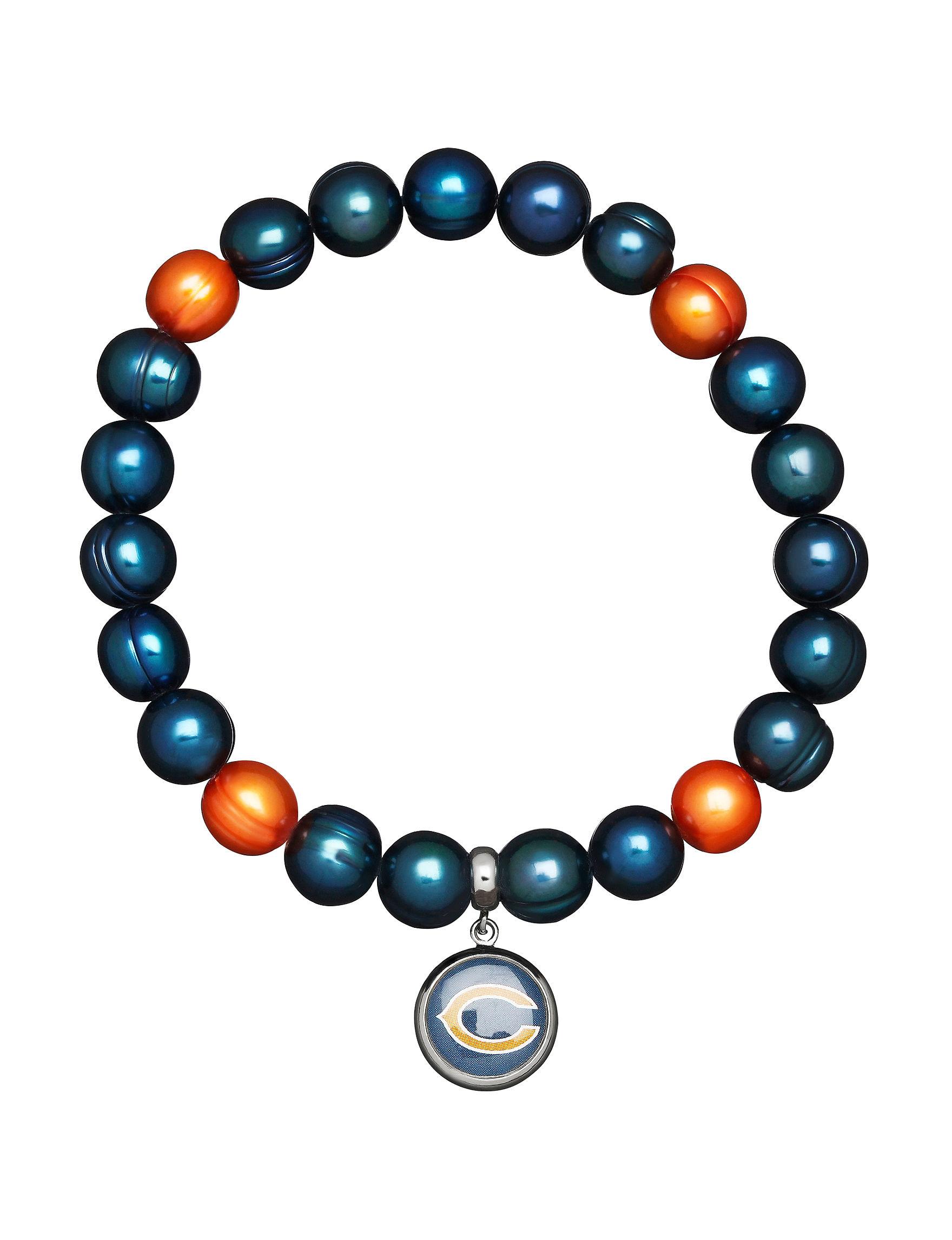 Aurafin Oro America Blue/Orange Bracelets Charms Fashion Jewelry Fine Jewelry NFL