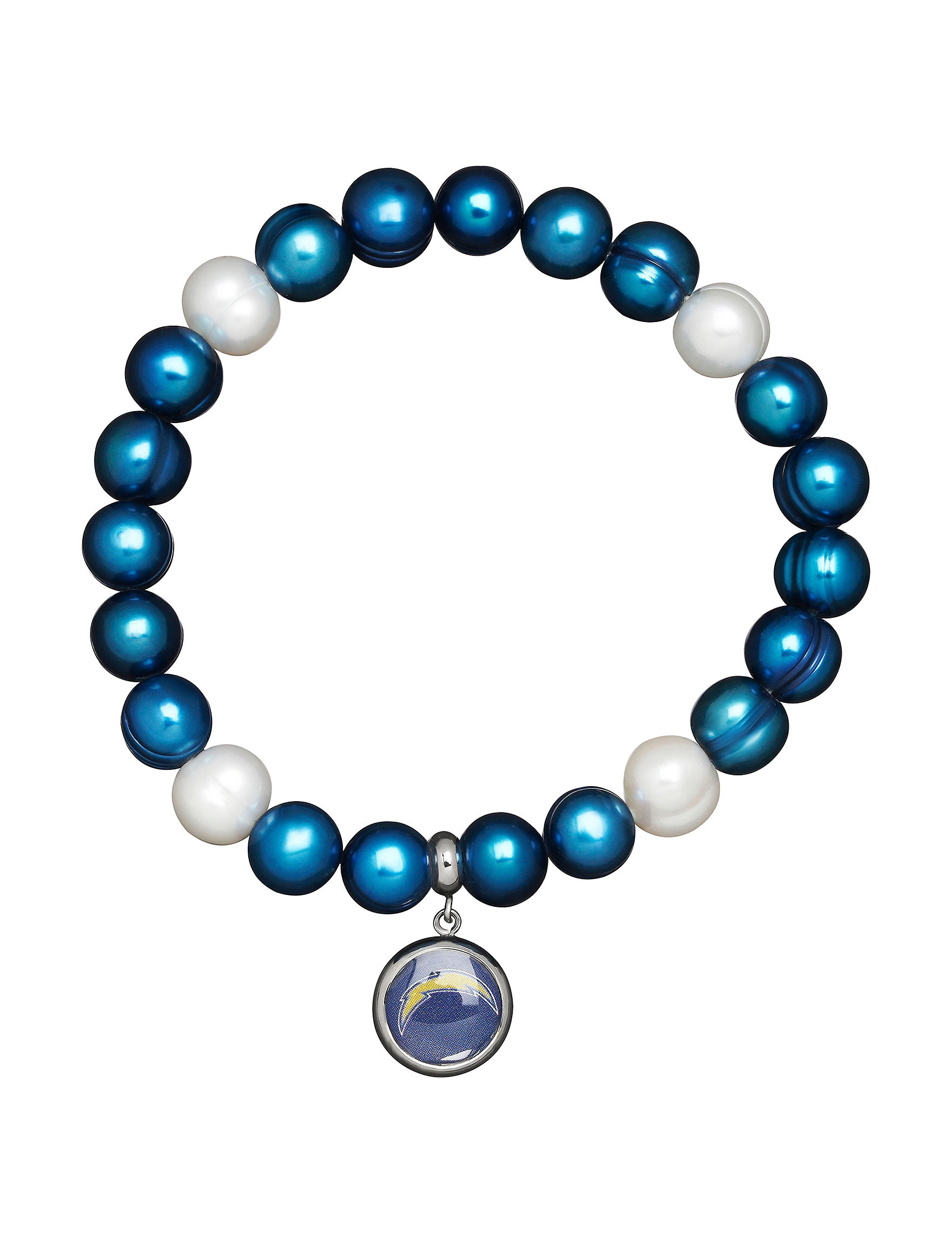 Aurafin Oro America Blue / White Bracelets Fine Jewelry