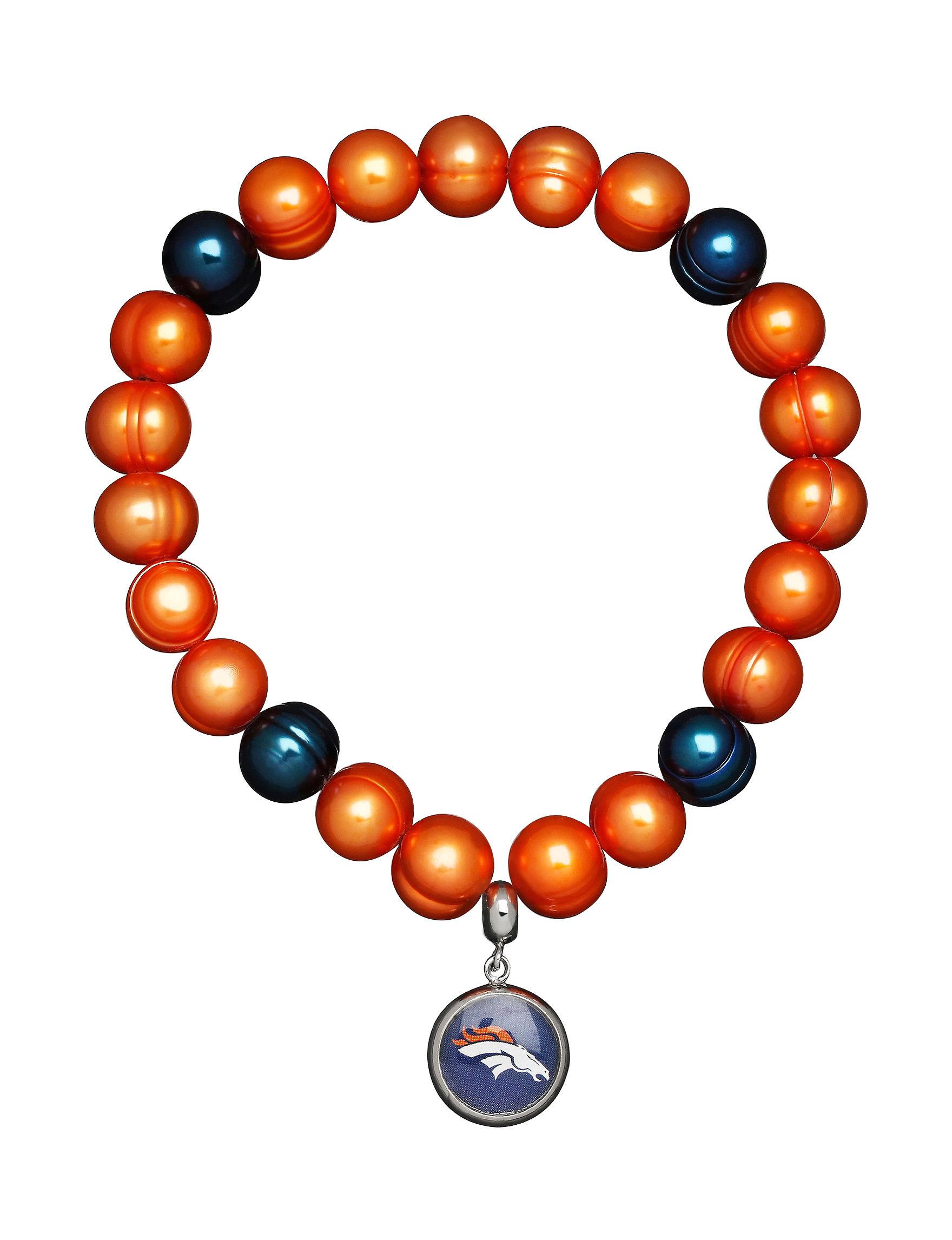 Aurafin Oro America Orange/Blue Bracelets Charms Fashion Jewelry Fine Jewelry NFL