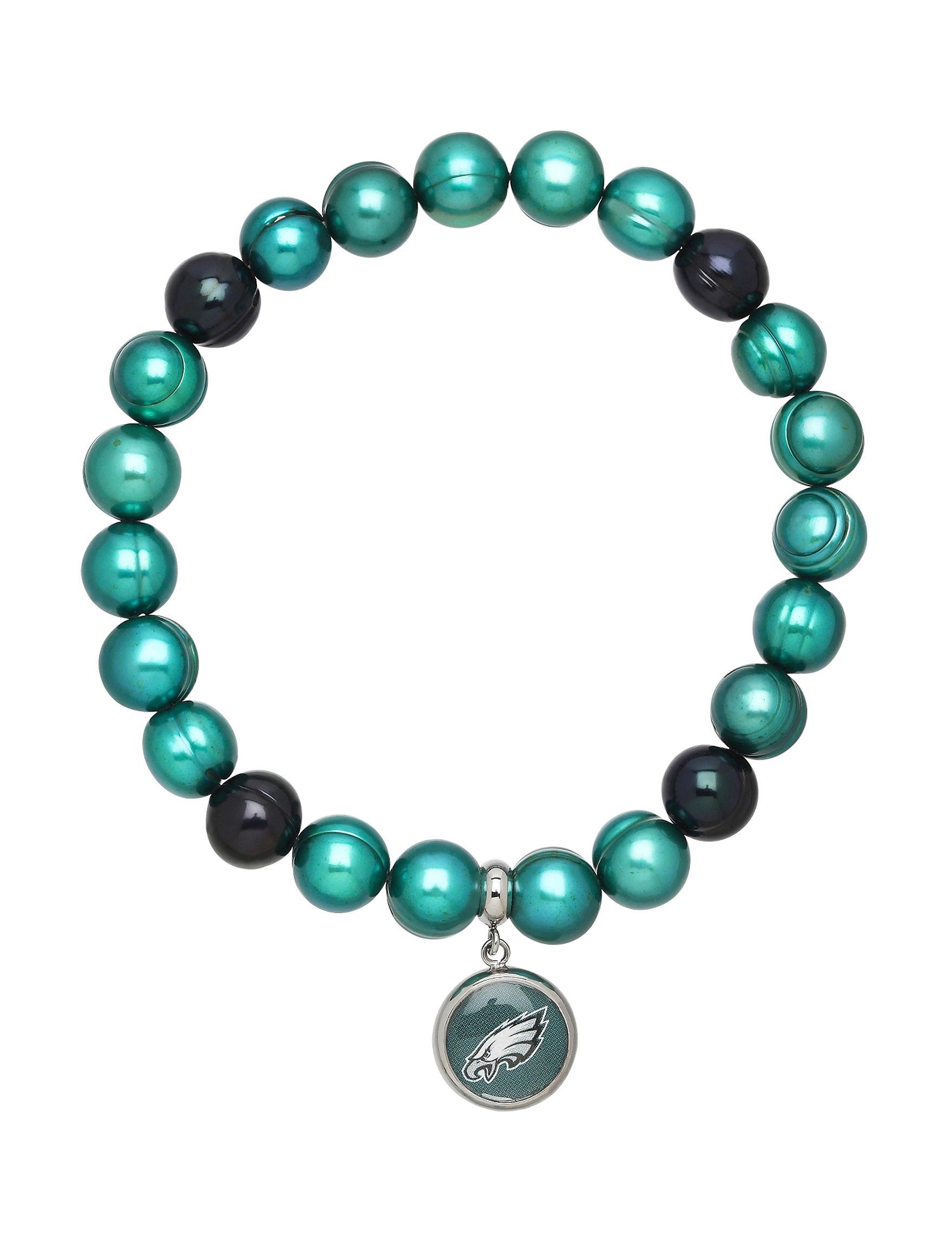 Aurafin Oro America Green / Black Bracelets Fashion Jewelry Fine Jewelry NFL