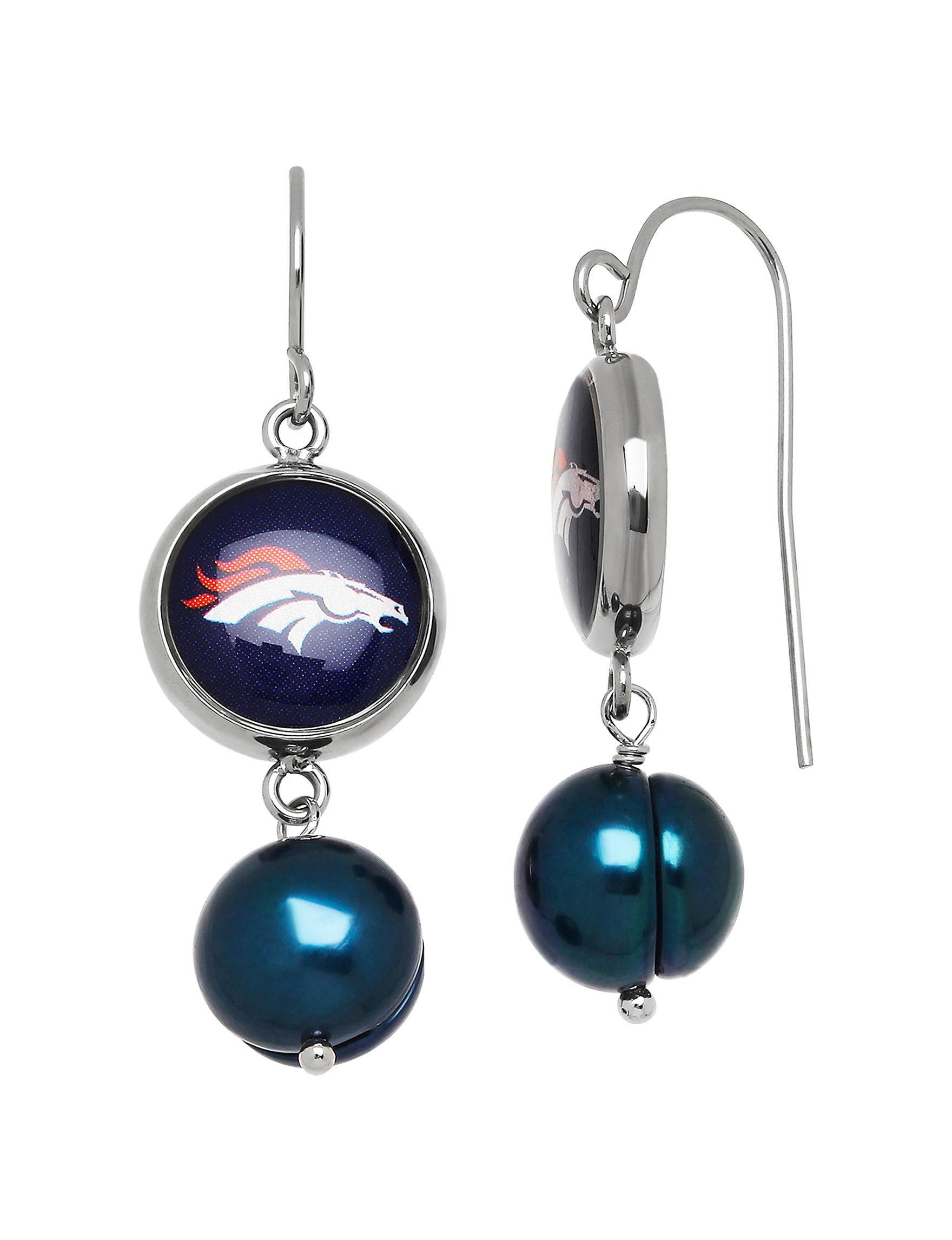 Aurafin Oro America Blue Drops Earrings Fashion Jewelry Fine Jewelry NFL