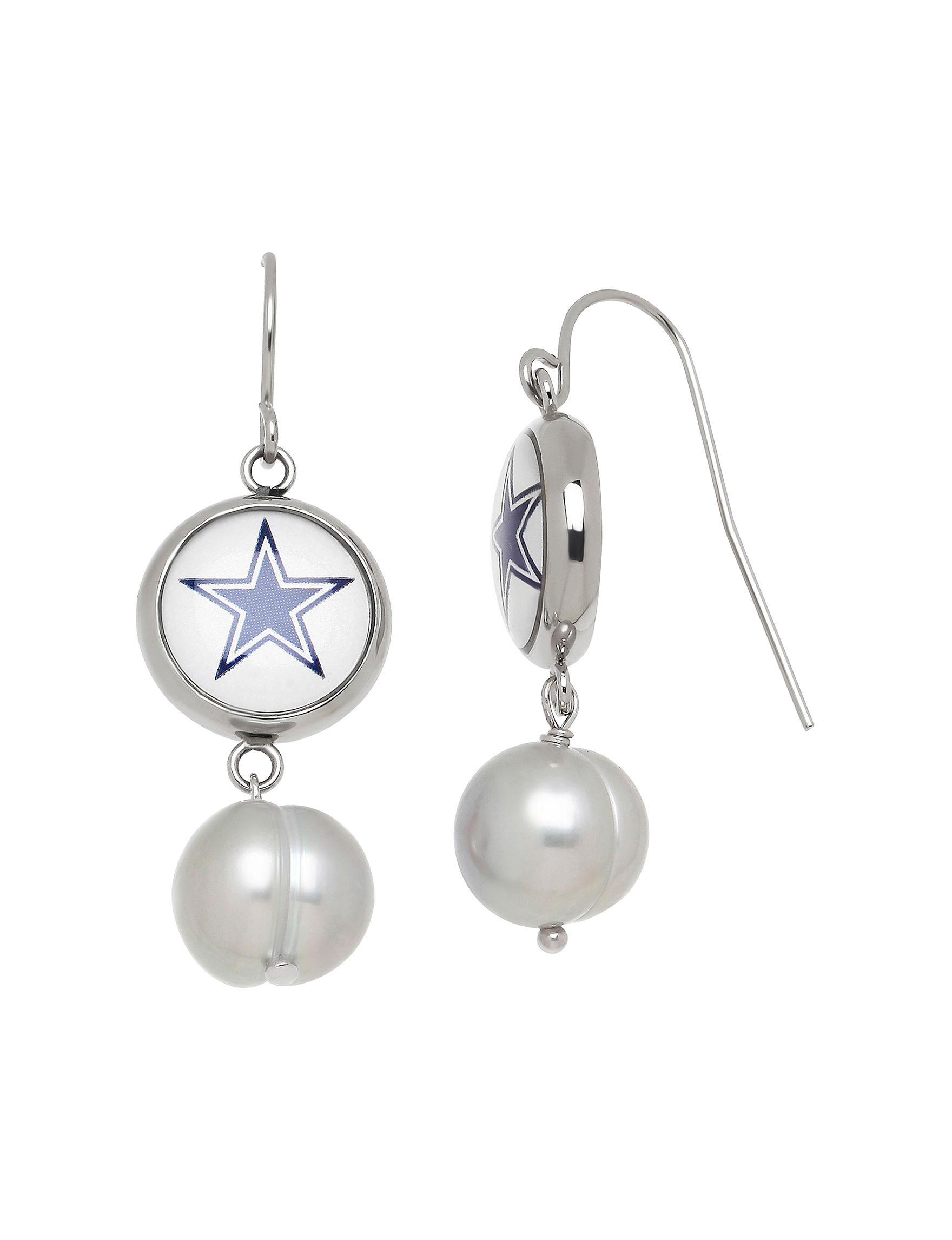 Aurafin Oro America Charcoal Drops Earrings Fashion Jewelry Fine Jewelry NFL