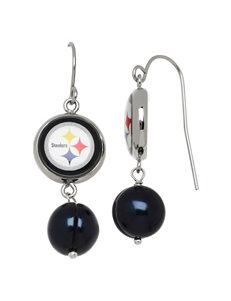 Aurafin Oro America Black Drops Earrings NFL