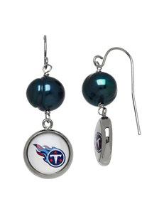 Aurafin Oro America Blue Drops Earrings NFL