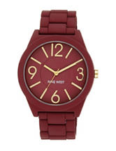 Nine West Ladies Berry Silicone Link Band Watch