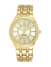 Nine West Ladies Gold-Tone Bling Dial Watch