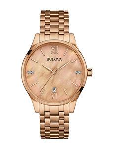 Bulova Rose Gold Fashion Watches