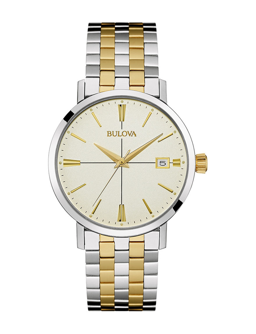 Bulova Two Tone Fashion Watches