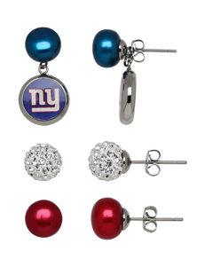 Aurafin Oro America Red Studs Earrings NFL