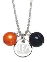 Cincinnati Bengals Double Pearl Necklace
