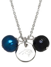 Carolina Panthers Double Pearl Necklace
