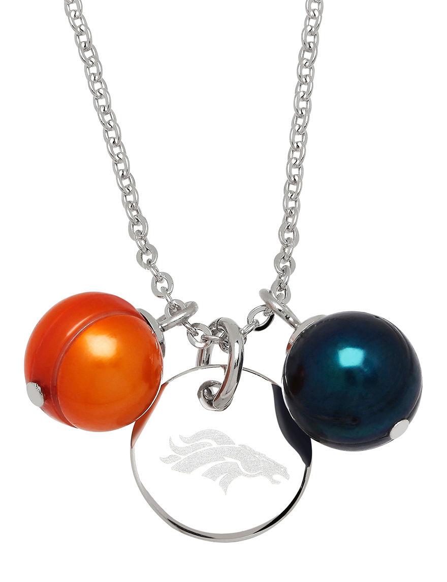 Aurafin Oro America Orange/Blue Necklaces & Pendants Fashion Jewelry Fine Jewelry NFL