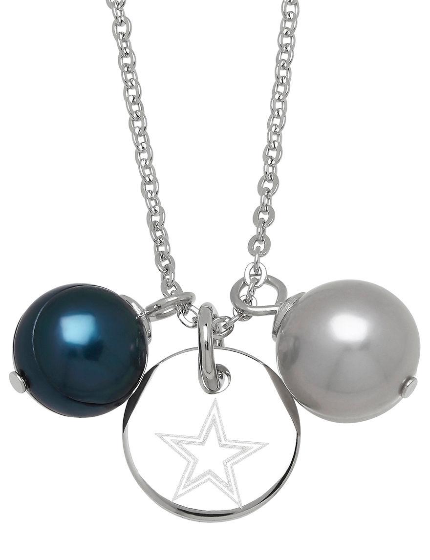 Aurafin Oro America Grey / Blue Necklaces & Pendants Fashion Jewelry Fine Jewelry NFL