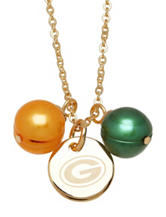 Green Bay Packers Double Pearl Necklace