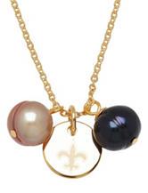 New Orleans Saints Double Pearl Necklace