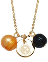 Pittsburgh Steelers Double Pearl Necklace