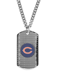 Chicago Bears Sterling Silver Dog Tags