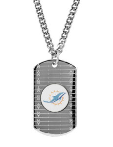 Miami Dolphins Sterling Silver Dog Tags