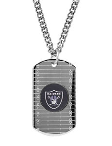 Oakland Raiders Sterling Silver Dog Tags