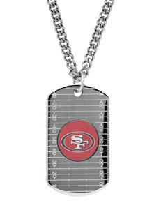 San Francisco 49ers Sterling Silver Dog Tags