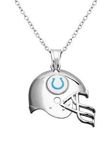 Aurafin Oro America White / Blue Necklaces & Pendants Fine Jewelry NFL