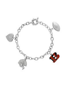 Aurafin Oro America Orange / Black Bracelets Charms Fine Jewelry NFL
