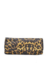 La Regale Leopard Print Envelope Clutch Handbag