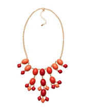 Hannah Marbled Oval Stone Necklace