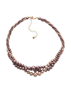 Hannah 3-Strand Twist Faux Pearl Necklace