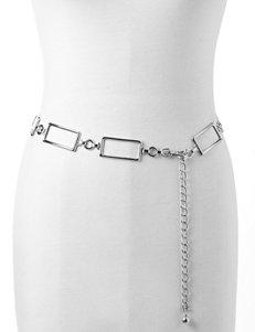 Steve Madden Open Rectangle Chain Belt