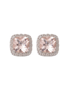 Max Color Champagne Studs Earrings Fine Jewelry