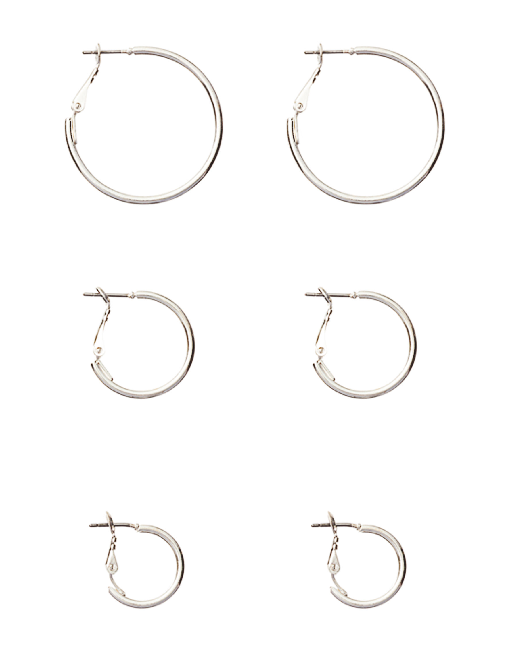 Hannah Silver Hoops Earrings Fashion Jewelry