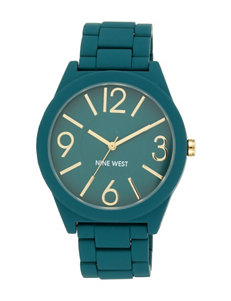 Nine West Teal Matte Bracelet Watch