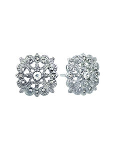 Roman White / Silver Studs Earrings Fashion Jewelry