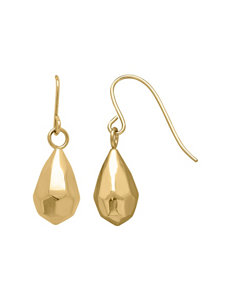 Aurafin Oro America Gold Drops Earrings Fine Jewelry