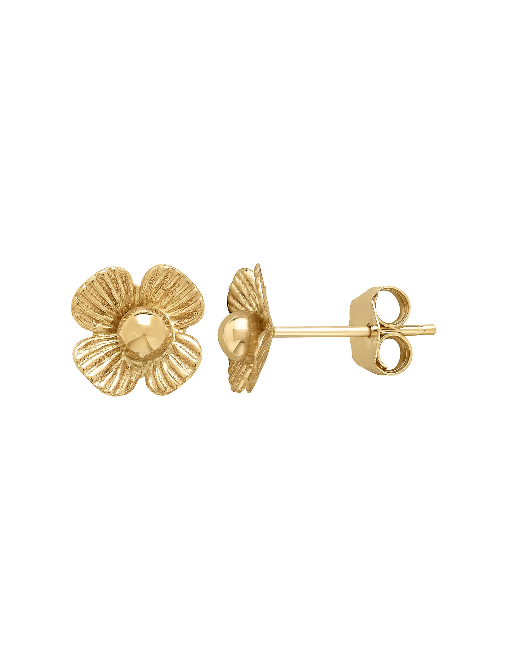 Aurafin Oro America Gold Studs Earrings Fine Jewelry