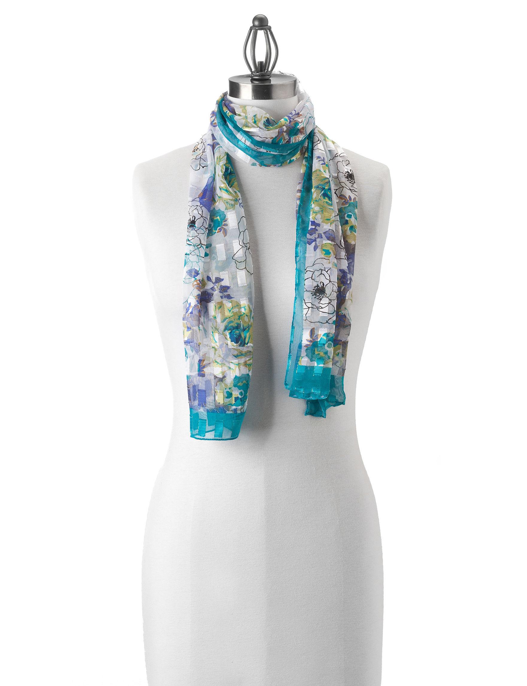 Basha Turquoise Scarves & Wraps