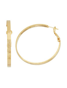 5th & Luxe 14K Gold Plated Flat Hoop Earrings