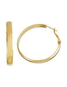 5th & Luxe 14K Gold-Tone Flat Hoop Earrings