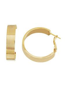 5th & Luxe 14K Gold Plate Flat Hoop Earrings