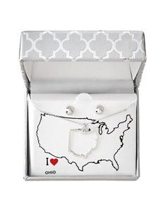 PAJ INC. White / Silver Studs Earrings Necklaces & Pendants Fine Jewelry
